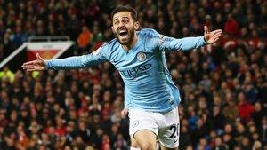 Bernardo Silva y Sané dieron una victoria vital al City en Old Trafford