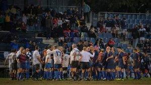 Buena relación entre equipos de veteranos en la pasada edición del Rugby Memorial, Ferro SantBoi