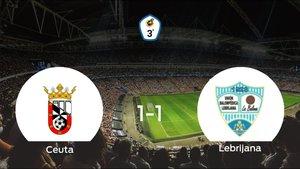 El Ceuta y la Lebrijana concluyen su encuentro liguero con un empate (1-1)