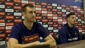 Claver y Heurtel durante su comparecencia previa al inicio de la Copa del Rey