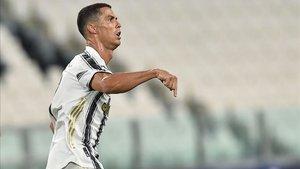 Cristiano Ronaldo lamentó la eliminación de la Champions de la Juventus.