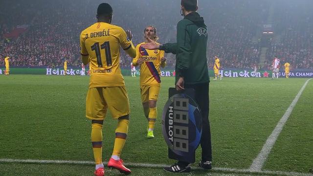 Dembélé entró por un desacertado Griezmann