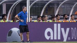 Ernesto Valverde debutó con victoria