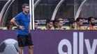 Ernsto Valverde dirige a sus jugadores durante el Barça-Juventos disputado en Nueva Jersey
