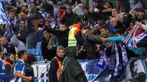 El Espanyol impidió que ex Boixos Nois se colasen en el campo