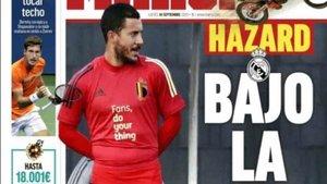 Esta imagen de Hazard preocupa al madridismo