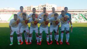 Este fue el once inicial de la selección española