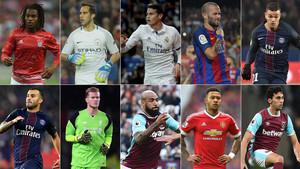 Estos diez futbolistas han vivido un final de 2016 amargo en el aspecto deportivo