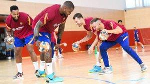 Excelente ambiente en la vuelta al trabajo del Barça