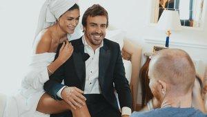 Fernando Alonso, junto a su novia Linda Morselli, en el documental de Amazone Prime