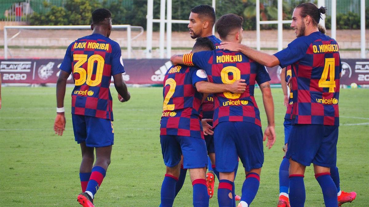 El golazo de Monchu que permite seguir al Barça B seguir aspirando al ascenso