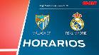 El horario del Málaga - Real Madrid en todo el mundo