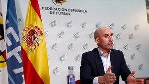 Imagen del presidente de la RFEF, Luis Rubiales