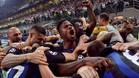Inter celebró a lo grande su victoria ante el Tottenham