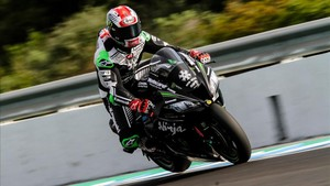 Jonathan Rea en el test de invierno de superbike en Jerez