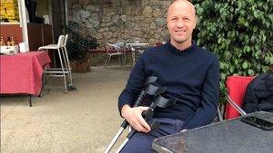 Jordi Cruyff se recupera tras la intervención