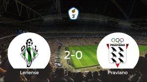 El Lenense se queda con la victoria frente al Praviano (2-0)