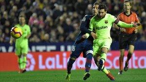 Leo Messi volvió a marcar contra el Levante