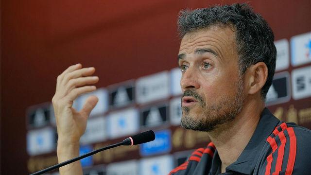 Luis Enrique valoró el grupo de España para la clasificación de la Eurocopa