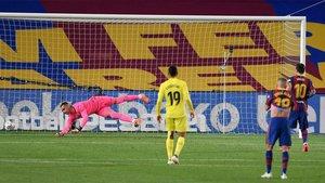 Messi no falló desde el punto de penalti