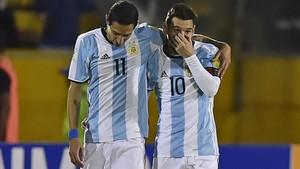 Messi y Di María juntos en la selección argentina