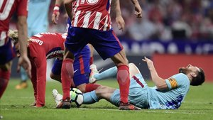 Messi, en el partido del Wanda del año pasado