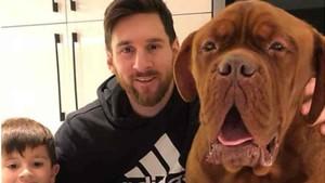 Messi ha vuelto a posar junto a Thiago y al perro Hulk