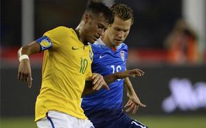 Neymar fue clave en el triunfo de Brasil