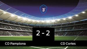 El Pamplona y el Cortes se repartieron los puntos tras un empate a dos