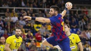 Partido entre el Bidasoa Iruny el Barça