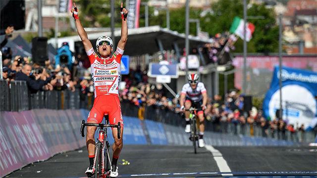 Primera victoria del italiano Masnada en el Giro de Italia