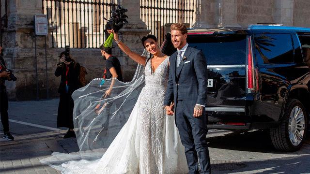 Ramos y Pilar Rubio ya son marido y mujer