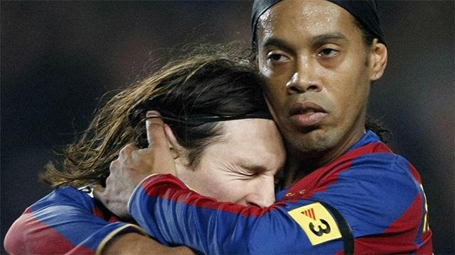Ronaldinho: Messi es el mejor de su época