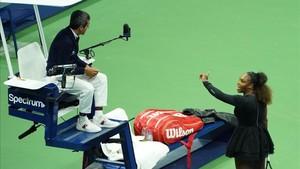 Serena y su pulso verbal contra el árbitro del US Open