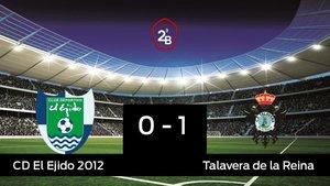 El Talavera de la Reina vence a El Ejido 2012 en el Municipal de Santo Domingo (0-1)