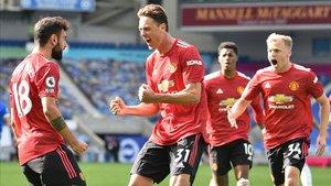 El United sufrió para llevarse el partido en un intenso final