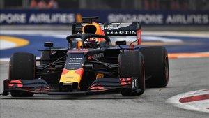 Max Verstappen en el circuito de Singapur