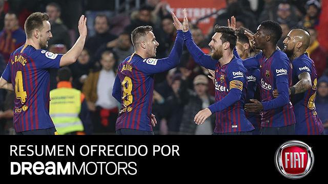 Así fue la goleada del Barça ante el Levante