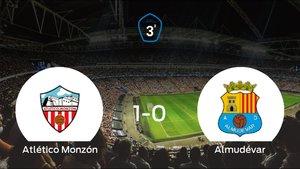 El Atlético Monzón se hace fuerte en casa y vence al Almudévar