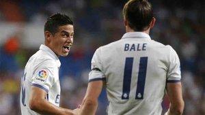 Bale y James han sido las principales ausencias del entrenamiento del Real Madrid
