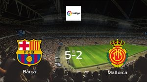 Barcelona score 5 in win against Mallorca with a 5-2 at Camp Nou
