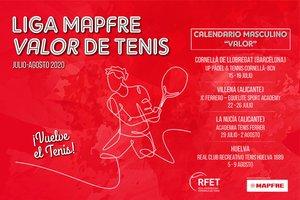 El calendario de la Liga Mapfre de tenis