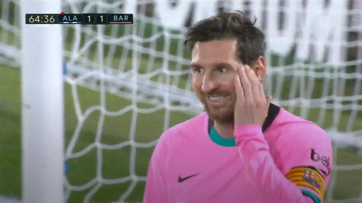 La cara de Messi lo dice todo... ¡Qué paradón de Pacheco!