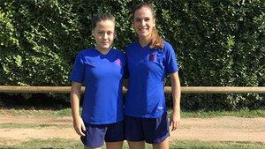 Claudia Pina y Laia Codina se incorporaron al stage de pretemporada