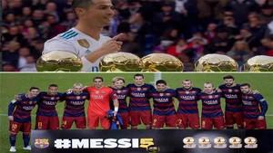 Cristiano Ronaldo lo celebró solo, y Leo Messi, con sus compañeros