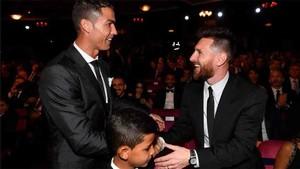 Cristiano Ronaldo, junto a Leo Messi