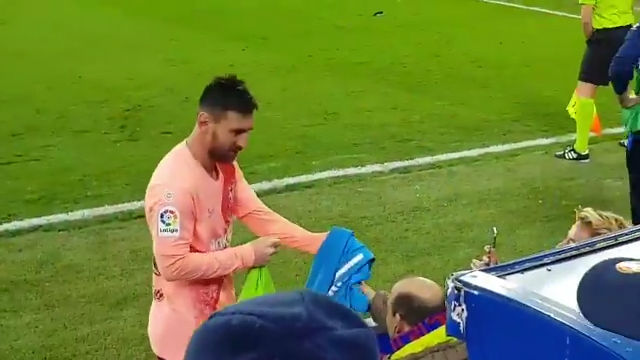 El detalle de Messi en Mendizorroza