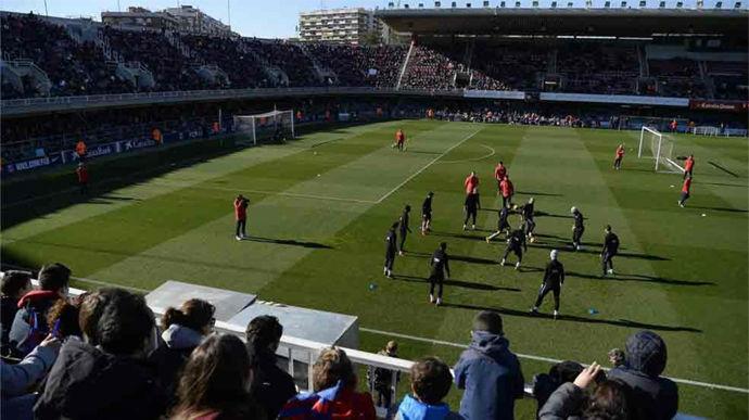 El entrenamiento del Barça en el Mini Estadi