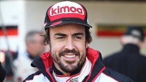 Fernando Alonso, emocionado antes de las 500 Millas de Indianápolis.