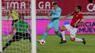 Gerard Deulofeu en una acción del partido de la Copa del Rey 2017/18 Real Murcia-Barça